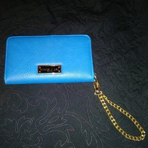 Olivia & Joy NWT Blue with Gold Wrist Chain Wallet